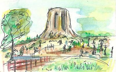 Painting - Devils Tower by Matt Gaudian