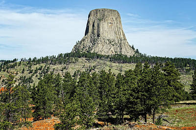 Photograph - Devils Tower National Monument Wyoming  -  Devtow002 by Frank J Benz