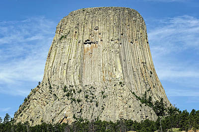 Photograph - Devils Tower National Monument Wyoming  -  Devtow005 by Frank J Benz