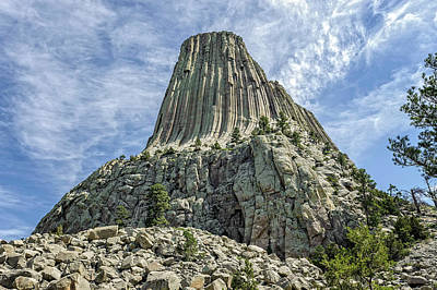 Photograph - Devils Tower National Monument Wyoming  -  Devtow009 by Frank J Benz