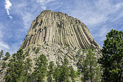 Photograph - Devils Tower National Monument Wyoming  -  Devtow010 by Frank J Benz