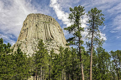 Photograph - Devils Tower National Monument Wyoming  -  Devtow011 by Frank J Benz