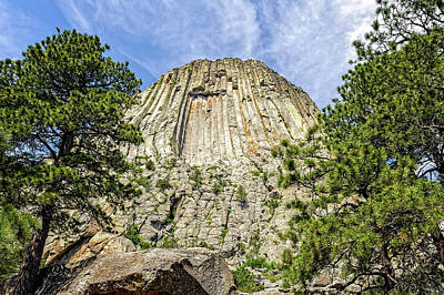 Photograph - Devils Tower National Monument Wyoming  -  Devtow012 by Frank J Benz