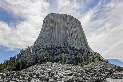 Photograph - Devils Tower National Monument Wyoming  -  Devtow014 by Frank J Benz