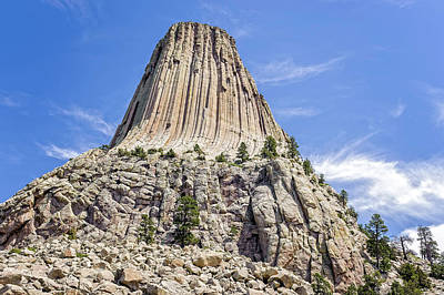 Photograph - Devils Tower National Monument Wyoming  -  Devtow016 by Frank J Benz