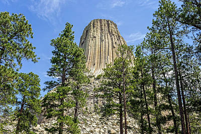 Photograph - Devils Tower National Monument Wyoming  -  Devtow017 by Frank J Benz