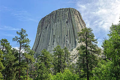 Photograph - Devils Tower National Monument Wyoming  -  Devtow018 by Frank J Benz