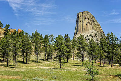 Photograph - Devils Tower National Monument Wyoming  -  Devtow020 by Frank J Benz