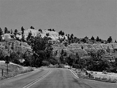 Photograph - Devil's Tower Red Rock Road B W by Rob Hans