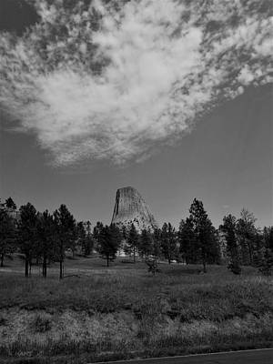 Food And Flowers Still Life Rights Managed Images - Devils Tower12 B W Royalty-Free Image by Rob Hans