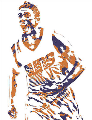 Phoenix Mixed Media - Devin Booker Phoenix Suns Pixel Art 6 by Joe Hamilton