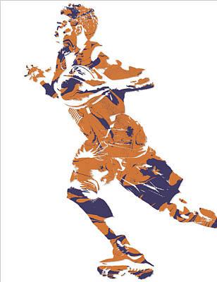 Free Mixed Media - Devin Booker Phoenix Suns Pixel Art 7 by Joe Hamilton