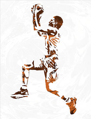 Phoenix Mixed Media - Devin Booker Phoenix Suns Pixel Art by Joe Hamilton