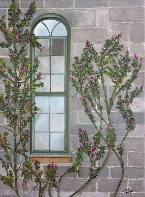 Painting Royalty Free Images - DeVine Window Royalty-Free Image by Judy Jones