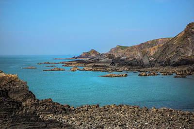 Photograph - Devon Coastline. by David Hare
