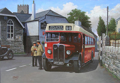 Bus Painting - Devon General Aec Regal. by Mike  Jeffries