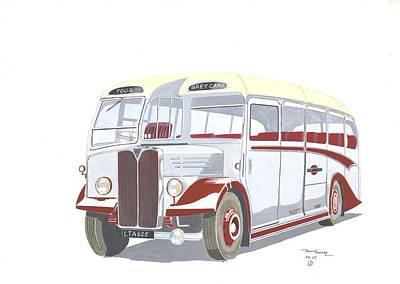 Devon General Aec Regal Art Print by John Kinsley