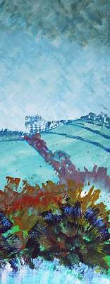 Painting - Devon Landscape Painting - Hills Near Exeter by Mike Jory