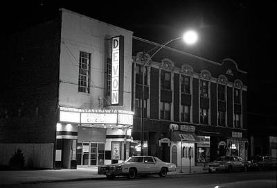 Photograph - Devon Theatre, 1979 by Jeremy Butler