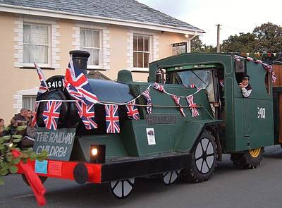 Photograph - Devon Village Carnival Train by Richard Brookes