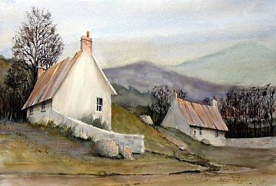 English Painting - Devonshire Cottage I by Charles Rowland