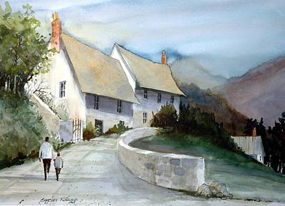 Devonshire Cottage II Art Print by Charles Rowland