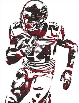 Falcon Mixed Media - Devonta Freeman Atlanta Falcons Pixel Art 12 by Joe Hamilton