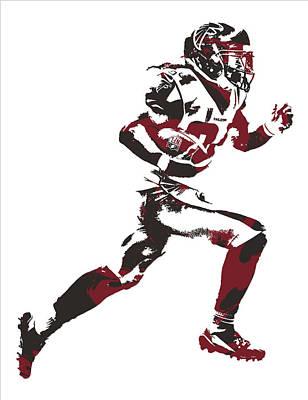 Falcon Mixed Media - Devonta Freeman Atlanta Falcons Pixel Art 13 by Joe Hamilton