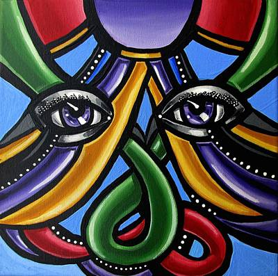 Painting - Colorful Eye Art Paintings Abstract Eye Painting Chromatic Artwork by Ai P Nilson