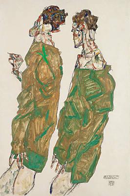 Devotion Art Print by Egon Schiele