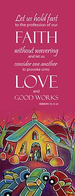 Devotional Art Banner - Scripture From Hebrews Original