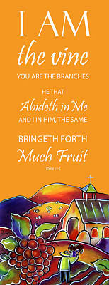 Painting - Devotional Art Banner - Scripture From John  by Jan Oliver-Schultz