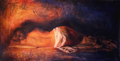 Nudes Painting - Devoto by Escha Van den bogerd