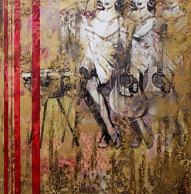 Stencil Art Painting - Devour by Bobby Zeik