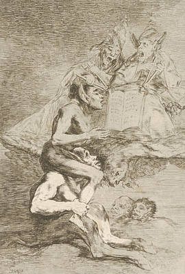 Relief - Devout Profession by Francisco Goya