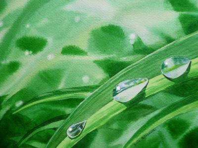 Dew Drops Print by Irina Sztukowski