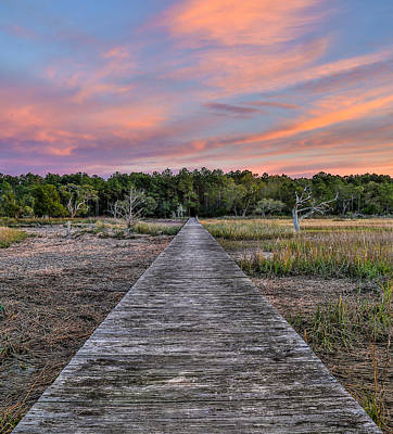 Photograph - Dewees Lone Cedar Dock by Donnie Whitaker
