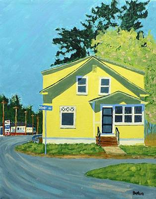 Maine Painting - Dewey Ave by Laurie Breton