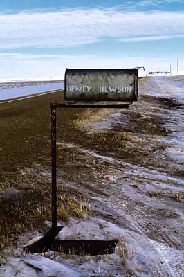 Mail Box Photograph - Dewey Hewson by Jeff Swan