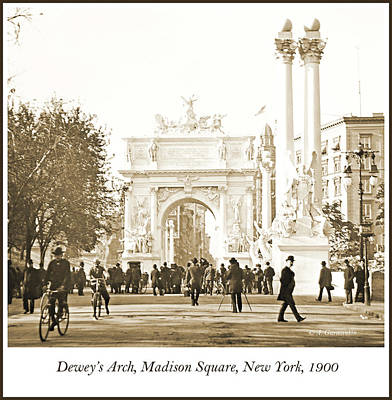 Photograph - Dewey's Arch Monument, Madison Square, New York, 1900 by A Gurmankin