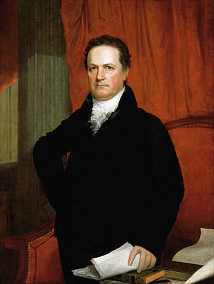Wesley Jarvis Painting - Dewitt Clinton by John Wesley Jarvis