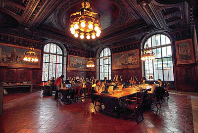 Bryant Park New York Photograph - Dewitt Wallace Periodical Room by Jessica Jenney