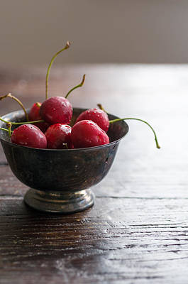 Photograph - Dewy Cherries by Colleen Farrell