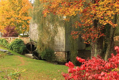 Dexter Grist Mill Autumn Cape Cod Art Print by John Burk