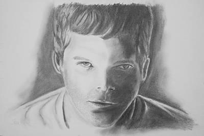 Dexter Drawing - Dexter Morgan by Jeff Noble