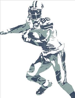 Dallas Mixed Media - Dez Bryant Dallas Cowboys Pixel Art 10 by Joe Hamilton