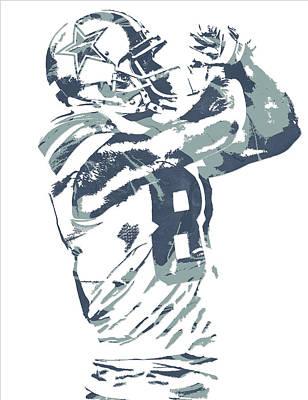 Dez Bryant Dallas Cowboys Pixel Art 20 Art Print