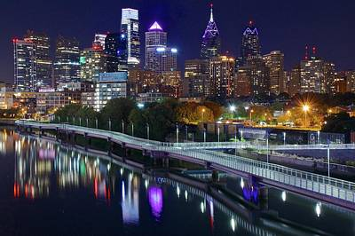 Photograph - Philly Lights Reflect Nicely by Frozen in Time Fine Art Photography