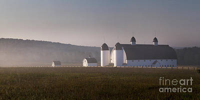 Farm Photograph - Dh Day Farm At Sunrise by Twenty Two North Photography