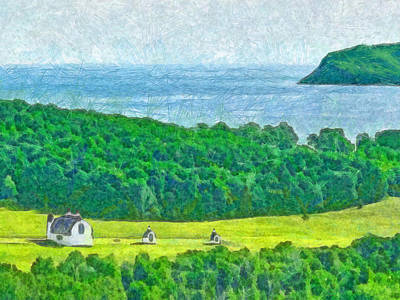 Digital Art - D. H. Day Farmstead by Digital Photographic Arts